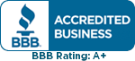 BBB Acredited Business BBB Rating A+